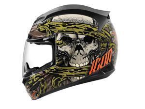 Icon Airmada Vitriol Motorcycle Helmet Black Small