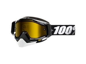100% Racecraft Snow Goggles Black/Yellow Lens OSFM