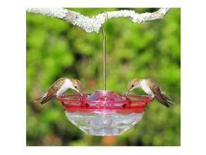 Aspects Mini HummBlossom Hummingbird Feeder, 4 oz., Rose, 433