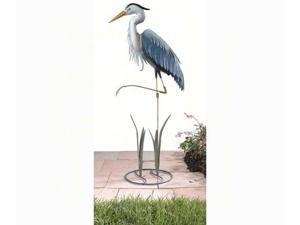 Regal Art Heron Standing Art 3D Garden Decor Sculpture w/ Ground Stake (R282)