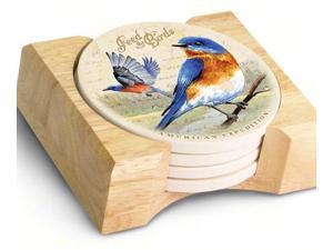 American Expedition Bluebird Stone Coaster, Set of 4