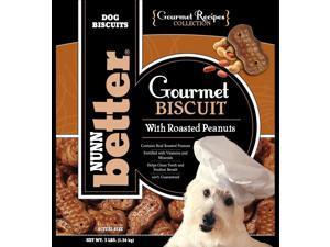 Nunn-Better Gourmet Roasted Peanut Dog Biscuit Treats 3 Lb Bag Case of 8