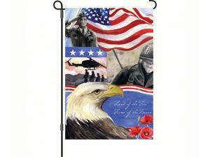 Premier Designs (51048) 12 X 18 PremierSoft Fabric Home Of The Brave Garden Flag