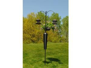Squirrel Stopper Shenandoah Bird Feeder Post w/ 3 Hanging Stations