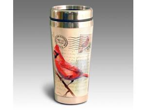 American Expedition Cardinal Postcard 16 oz Stainless Steel Travel Mug