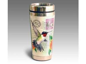 American Expedition Hummingbird Postcard 16 oz Stainless Steel Travel Mug