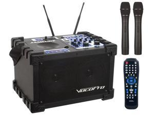 Vocopro JAMCUBE-2 100W Stereo All-In-One Mini PA/Entertainment System with SD Recording Module & Dual VHF Mics