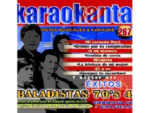Karaokanta KAR-4267 - Baladistas 70´s - IV Spanish CDG