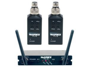 NuVoice PL-2 Wireless 2-Channel Plug-on Transmitter System