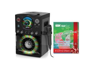 Singing Machine SML-385 CDG Karaoke Machine & Christmas Songs Pack