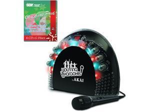 AKAI KS-201 CDG Portable Karaoke Player with Light Effects  #38; Christmas Song Pack