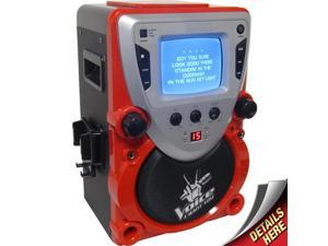 Sakar The Voice CD/CDG Karaoke All-In-One Machine (Black/Red)