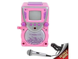 Sakar Victorious CD/CDG Karaoke All-In-One Machine (Pink)