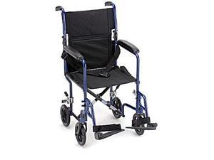 "NOVA 19"" Lightweight Transport Wheelchair w/ Footrests"