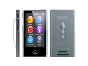 MiniSuit JAZZ Slim Shell Case with Belt Clip + Screen Protector for iPod Nano 7 (Clear)