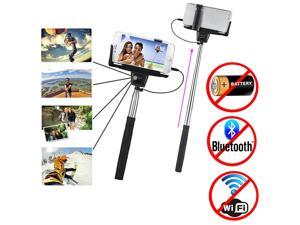 Minisuit Selfie Stick Battery-Free for Apple & Android with Wire Earphone Jack Connector