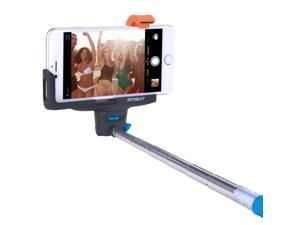 Minisuit Selfie Stick Pro with Built-In Remote for Apple & Android - Blue