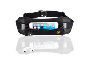 Hydration Running Belt Sporty Raceband Running Belt Waistband Pouch with Earphone Outlet and Hydration Pack Loops for Mobile Cell Phone iPhone 6 / 6 Plus & Samsung Smartphones