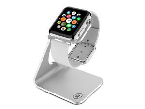 Minisuit Charging Dock Station Stand for Apple Watch 38 or 42mm (Horizontal Silver)