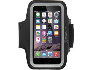 "Minisuit Sporty Armband + Key Holder for Apple iPhone 6 (4.7"") - Black"