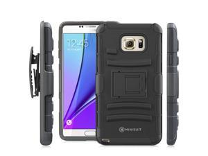 Minisuit Dual-Layer Rugged Kickstand Case + Belt Clip for Samsung Galaxy Note 5
