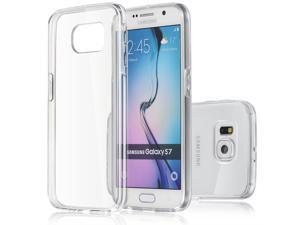 Galaxy S7 Minisuit Clear Back Bumper Case with Shock-Proof TPU Trim [Exact Fit/Drop Protection/Shock Absorption]