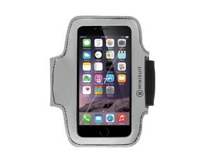 "Minisuit SPORTY Armband + Key Holder for Apple iPhone 6 Plus, 6S Plus (5.5"") Gray Reflective"