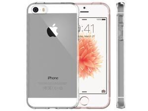 Minisuit iPhone 5 5S SE Clear Back Bumper Case with Shock-Proof TPU Trim