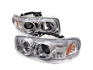 GMC Yukon/Yukon XL 2000 01 02 03 04 05 06 Projector Headlights Chrome