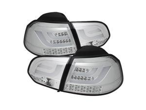 Volkswagen Golf / GTI 10-12 G2 Type With Light Bar LED Tail Lights - Chrome