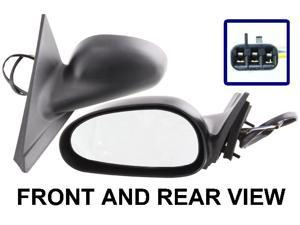 FORD MUSTANG 99-04 SIDE MIRROR LEFT DRIVER, POWER, EXCEPT COBRA MODEL, KOOL-VUE