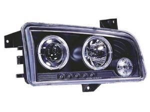 IPCW Projector Headlight CWS-416B2 06-09 Dodge Charger Black