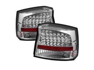 Dodge Charger 2009-2010 LED Tail Lights - Chrome