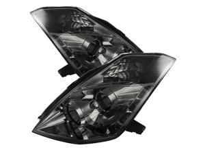 Nissan 350Z 2006-2008 ( HID Version ) DRL LED Projector Headlights - Smoke- NEW!