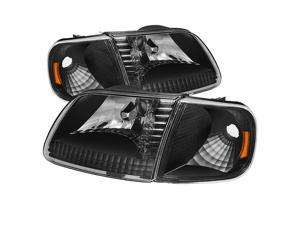 Ford F150 97-03 / Expedition 97-02 Crystal Headlights w/Corner - Black