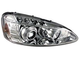 IPCW CWS-359C2 Pontiac Grand Prix 2004 - 2008 Head Lamps, Projector With Rings Chrome