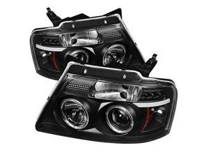 Ford F150 2004 05 06 07 08 Version 2 Halo LED Projector Headlights - Black