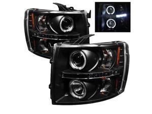 Chevy Silverado 1500/2500 2007-2011 Halo LED Projector Headlights Black~*~*~NEW!
