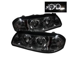 Chevy Impala 2000-2005 Halo LED Projector Headlights - Smoke*~*~NEW! GUARANTEED!