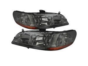 Honda Accord 98-02 Amber Crystal Headlights - Smoke