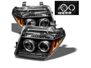 Nissan Frontier 2005-2008 Halo LED Projector Headlights - Black-NEW! GUARANTEED!