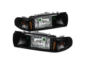 Spyder Auto Chevy Caprice 91-96 / Impala 91-96 1PC LED Black Crystal Headlights