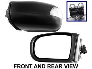 E-CLASS 00-03 SIDE MIRROR LEFT DRIVER, Assembly, Folding