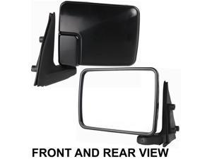 DODGE RAM 50 PICKUP 87-93 SIDE MIRROR LEFT DRIVER, SAIL MOUNT FOLDING, KOOL-VUE