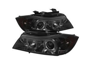 BMW E90 3-Series 2006 07 08 4Dr Halo Amber Projector Headlights - Smoke