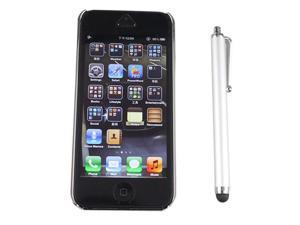Luxury Brushed Aluminum Chrome Hard Case for iPhone 5 5G + Stylus - Silver