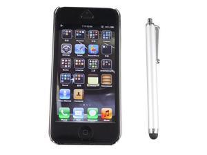 Luxury Brushed Aluminum Chrome Hard Case for iPhone 5 5G + Stylus - Silver