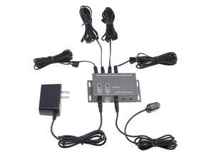 Infrared Remote Extender 4 Emitters 1 Receiver Hidden IR Repeater System Kit DC