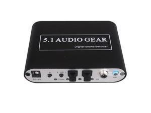 AC3 DTS 5.1 Audio Gear Digital Sound Decoder SPDIF PC, PS3, Xbox 360, Blue-ray, DVD Players