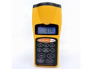 Ultrasonic Tape Measure Distance Meter LCD Digital Laser Pointer Measurer Tool